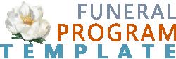 funeral program template logo